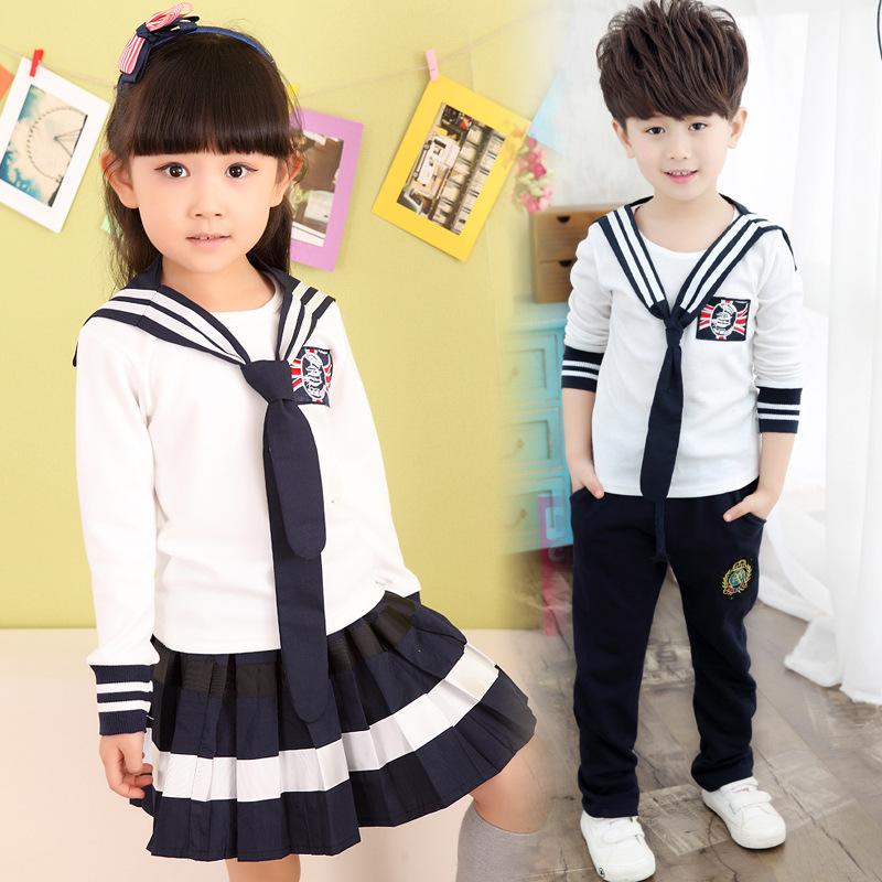 Compra Niños uniforme de la marina online al por mayor de