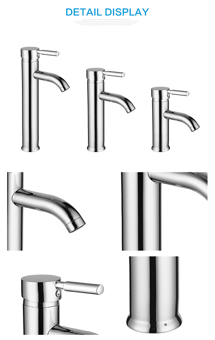 High end tall body taps lavatory sink basin faucet for bathroom