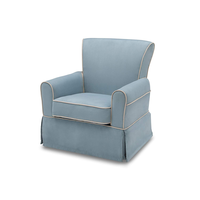 Get Quotations · Svitlife Benbridge Nursery Glider Swivel Rocker Chair,  Frozen Blue With Cream Welt Children Benbridge Nursery