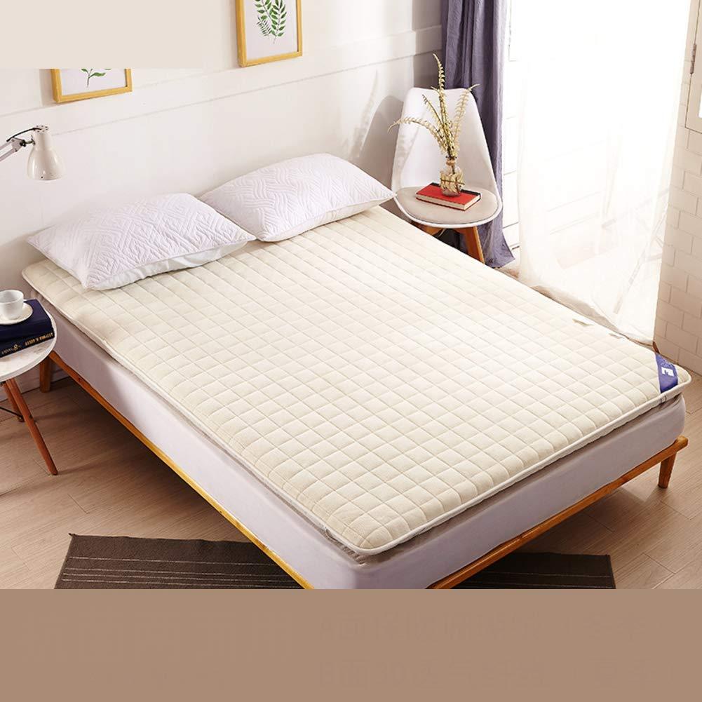 SL&CL Antibacterial Mattress,1.8m Bed Thickened Anti-mite 1.5 m Bed Anti-Slip Tatami 1.2m 0.9m Student pad Portable Sleeping pad-D 120x190cm(47x75inch)