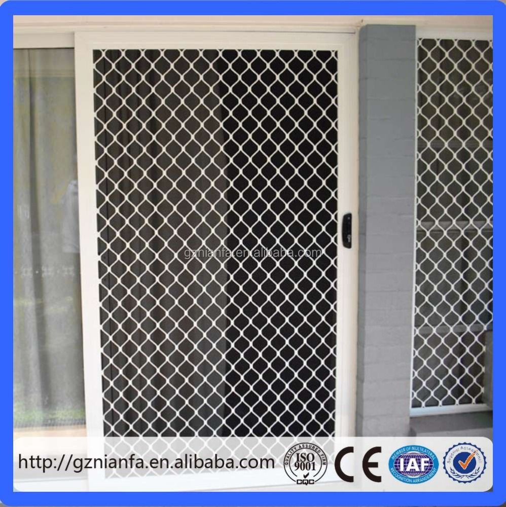 Aluminun Grille Wire Mesh for Door and Window (Guangzhou Factory)