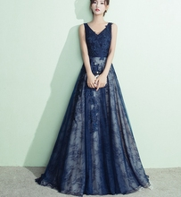 V คอ backless appliques <span class=keywords><strong>elegant</strong></span> ชุด royal blue mother of the bride ชุดราตรี