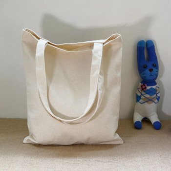 Promotional Natural Colored Large Canvas Storage Bags With Handles Bag