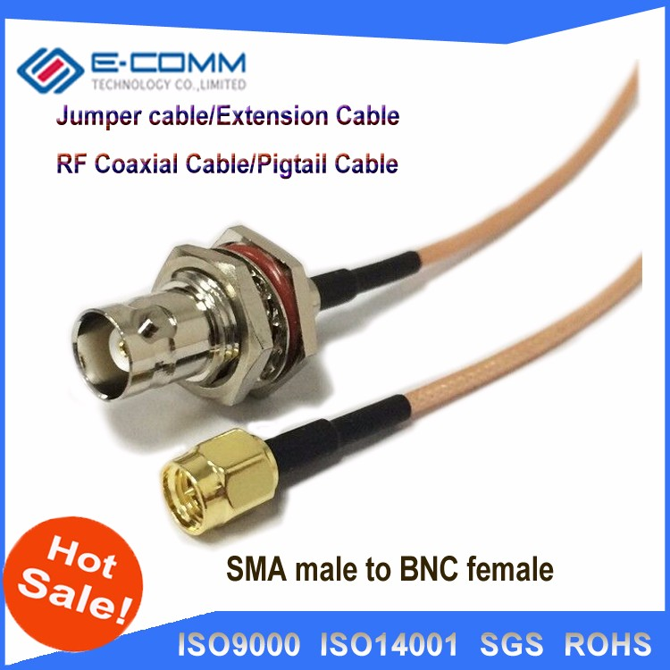 Hot SMA Male to BNC Female Plug Adapter Antenna Pigtail Cable 13""