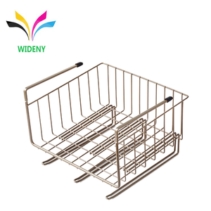 Multifunctional household save space iron metal wire mesh basket