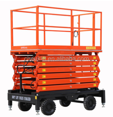 Enjoy great popularity among the people Scissors Aerial Work Platform SJY1000 for sale