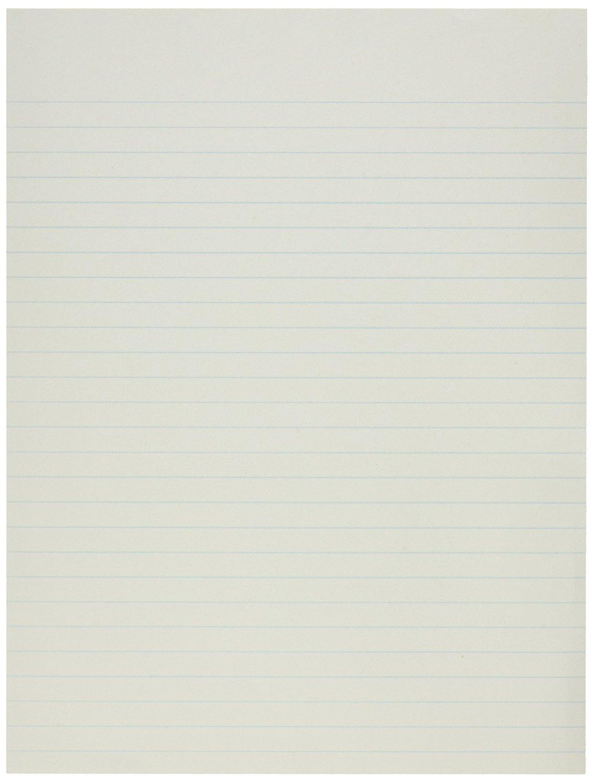 School Smart No Margin Composition Paper - 8 x 10-1/2 inches - 500 Sheets - 20 lb. - White