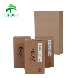 China packaging supplier made OEM recycle brown high quality small A6 kraft boxes with company logo
