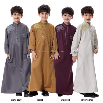 Wholesale muslim boy abaya new style kids abaya islamic clothing children dress