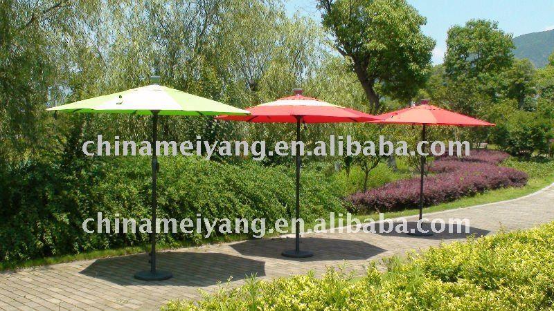 Alu Deluxe Solar Automatic Patio Umbrella Garden Cranked Product On Alibaba