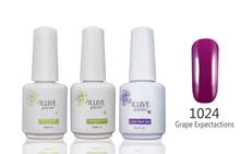 3 packs iLuve Professional Violet Nail Gel Polish UV LED Lamps Gel 15ml Base Top Coat