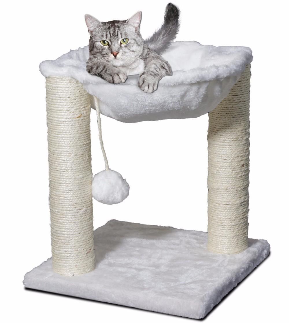 funpaw montar tela durable plue sisal gato de madera cero ratn de casa columpio juguetes