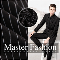 pinstripe dubai and italian polyester viscose wool suit fabric