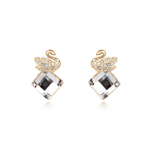 Wholesale artificial crystal Clear Crystal 2014 fashion earrings