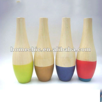 Beste Qualitat Einzigartige Ekorative Runde Lack Bambus Vase Fur