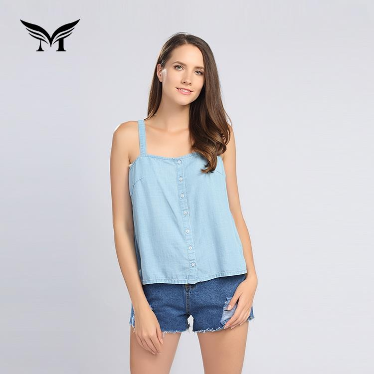 New look eco friendly plain dyed custom casual women blouse tops