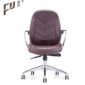 Foshan workwell comfortable Low Back Genuine Leather Secretary Office Chair