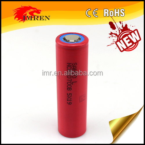 2017 New arrivals Sanyo NCR20700B 4250mAh Li-ion 3.7V 20700 Sanyo NCR 20700B rechargeable battery