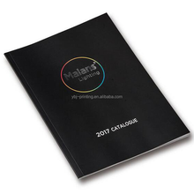 Custom softcover book/laminated black softcover book printing for lighting