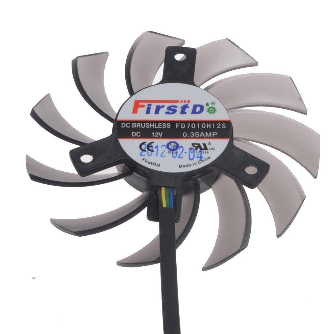 PUULI FD7010H12S DC Graphics Card Fan DC 12V 0.35A 75mm 40x40x40mm 4Pin Cooling Fan GTX660 GTX670 GTX680 GTX690 Fan Cooler