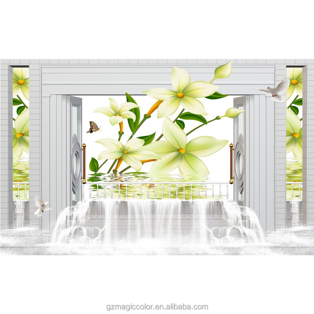 3d cadre photo papier peint nature jaune fleur dans le papier peint de l 39 eau hd image designer. Black Bedroom Furniture Sets. Home Design Ideas