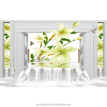 3d Photo Frame Wallpaper Nature Yellow Flower In The Water Wallpaper Hd  Image Designer Home Decor Wallpaper - Buy 3d Photo Frame Wallpaper,Nature
