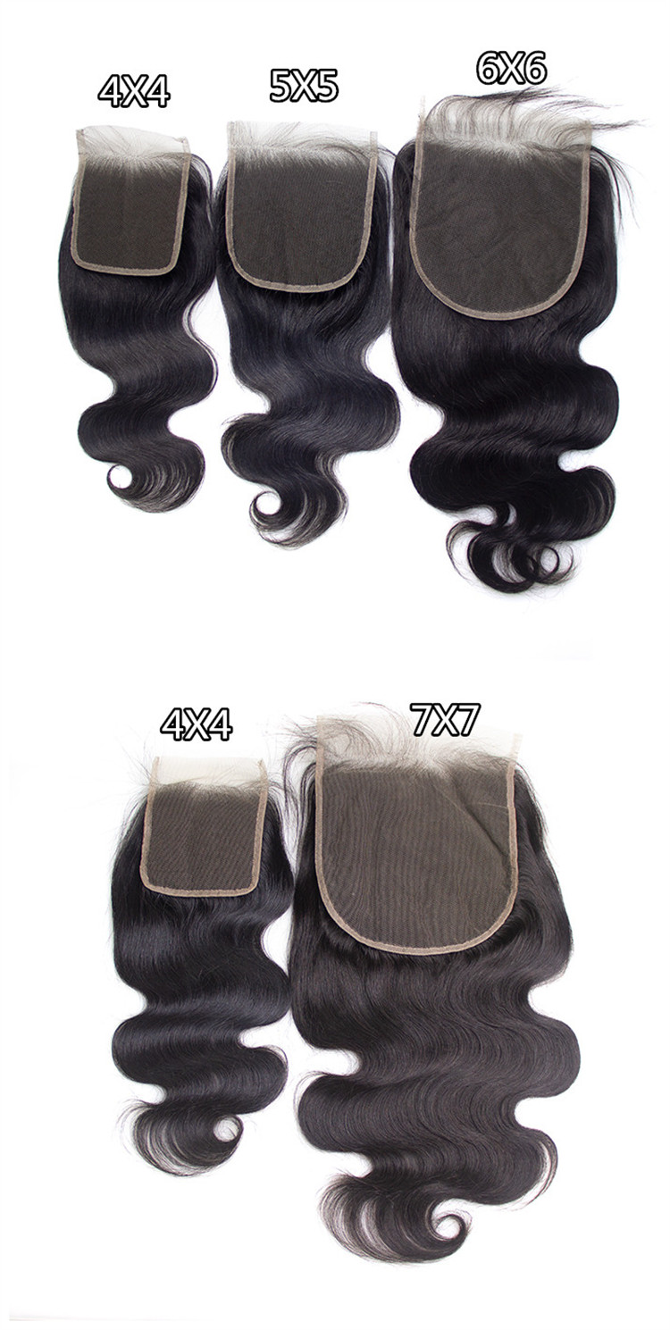 Cuticle Aligned Pre-plucked 4X4 5X5 Transparent Lace Closure 13X4 13x6 360 HD Thin Film Swiss Frontal Hair Bundles With Closure