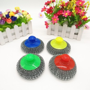 2017 Hotselling Kitchen pot gavernized steel mesh scourer with handle