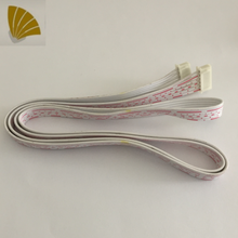 customized length cable assembly 6 pin LCD screen white and red flat ribbon cable