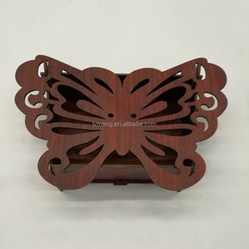 Custom made arabic sweet wooden box/Laser cut butterfly wedding candy box