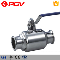 easy connecting quick install clamp type hygienic ball valve