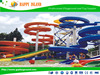 2015 China largest water park equipments supplier water fiberglass slide