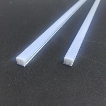 8 8mm Slim Flat Recessed Tubular Housing Led Strip Lighting Aluminum Profiles Channel Extrusion Profile