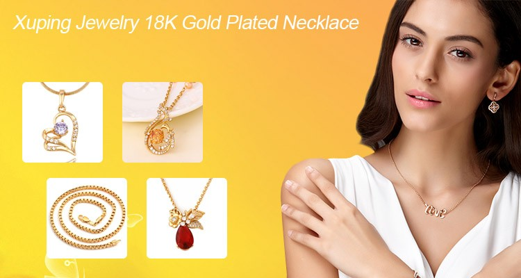 64507 Xuping city gold jewellery online shopping graceful 18k gold three pieces jewelry set for women