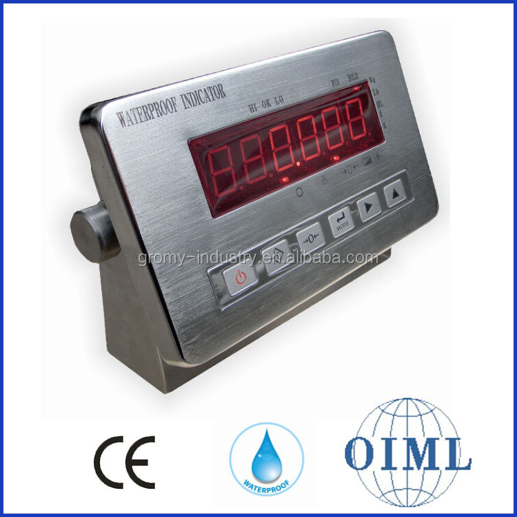 OIML Approved Digital Waterproof Indicator for Weighing Scale