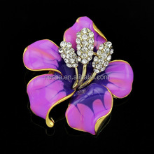 fashion enamel flower brooch wholesale A1001