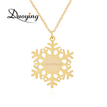 Snowflakes Necklaces Name Custom Personalized Christmas Gifts Fashion Jewelry Pendant Necklace