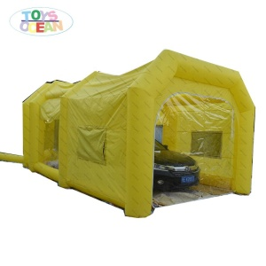 customized design inflatable Mobile portable car paint spray baking booth with blower and filter
