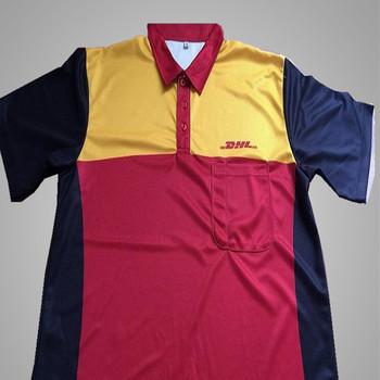 Factory oem dhl polo shirt uniform work buy dhl polo shirt dhl work uniform uniform shirt work
