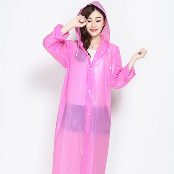 72171235d PEVA Plastic Ladies Reusable Raincoat ,Rain Poncho with Hood and Sleeves in  Different Colors