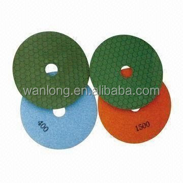 flexible diamond wet polishing pads used to polis marble granite and other house_materials for stone processing