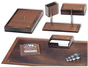 Luxe lederen bureau set buy luxe lederen bureau stelt product on