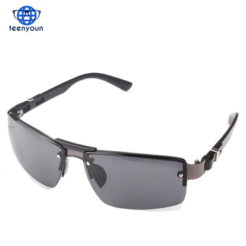 8f83d29b50a Metal Big Size Frame Leg Male Sunglasses Fashion Classic UV400 Protective  Glasses Summer Style Shade Goggles