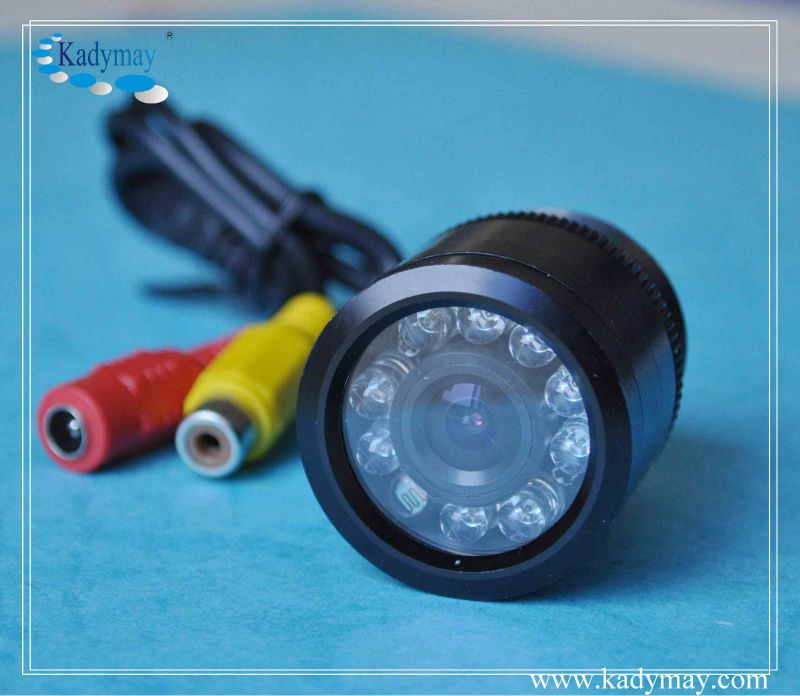 420TVL CMOS 120 Degree Wide Angle Drill Hole rear view camera for renault megane