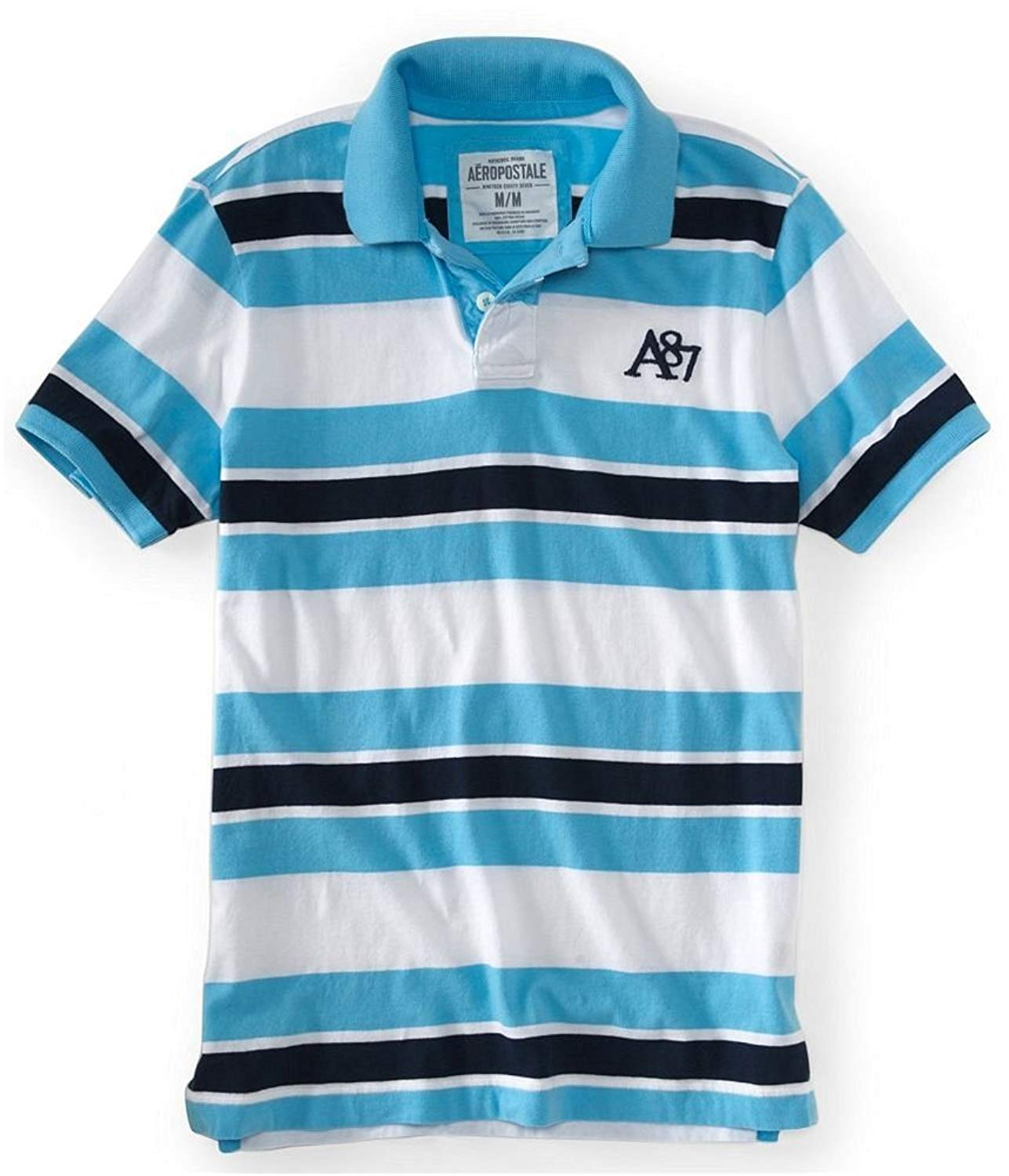 93fe8b234f2 Buy Aeropostale Mens A87 Stripe Rugby Polo Shirt in Cheap Price on ...