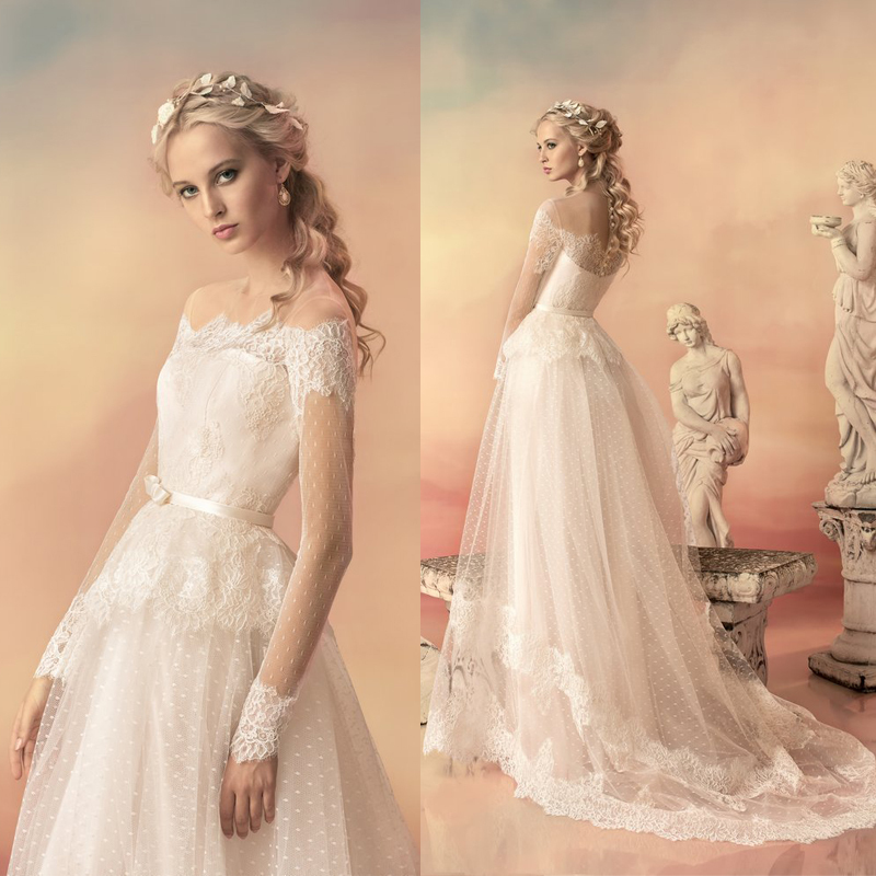dc972344965f9 ... Simple Wedding Dresses With Sleeves: Elegant And Simple Wedding Dresses  Long Sleeve Lace