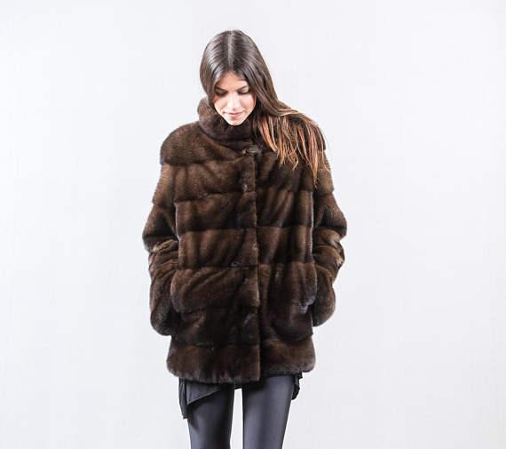 Jackets & Coats Real Fur Real Sable Whole Mink Fur Women Slim Regular Coat Martes Zibellina Mink Fur Jacket Porpular Mink Fur