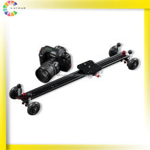2016 Top Sale Pro Video Stabilizer Dolly Best 60cm wheeled dslr Sliders Camera Slider for Film Shooting