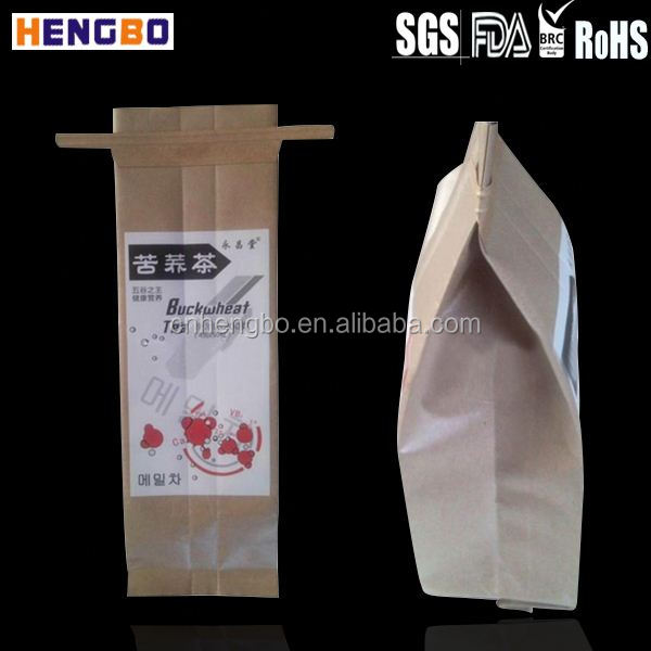 kraft paper coffee bags with valve bottom gusset aluminum foil empty tea bag tea bag paper roll