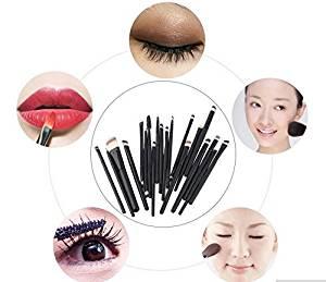 Grandey 20pcs Makeup Brushes Set Powder Foundation Eyeshadow Eyeliner Lip Cosmetic Brushes Wooden 20 Pcs Pro Makeup Set Powder Foundation Eyeshadow Eyeliner Lip Brushes